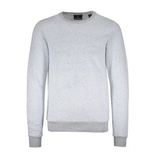 Scotch & Soda Crewneck in compact felpa quality, Denim White, medium