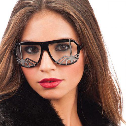 Party Glasses Spider on Lense Black