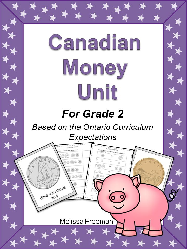 """This Canadian Money Unit contains lesson ideas, printable worksheets, tests, an """"I Have, Who Has Money Game"""", 6 coin posters, and now 5 printable pages of coins to use as currency in your classroom store!"""