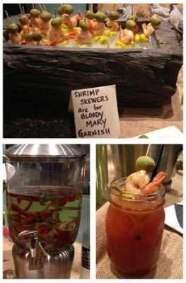 DIY Bloody Mary Bar with pepper infused vodka