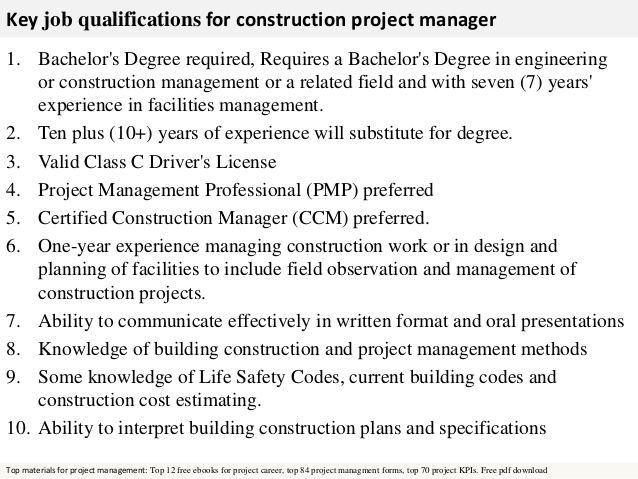 25 Best Ideas about Job Description – Construction Management Job Description