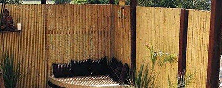 Jati Bamboo Screens #BamboScreens #BambooFencing #Fencing #Natural #Garden #GardenDecor