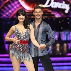 Daisy Lowe and Aljaz Skorjanec pose for the 2017 Strictly Come Dancing Tour photo call