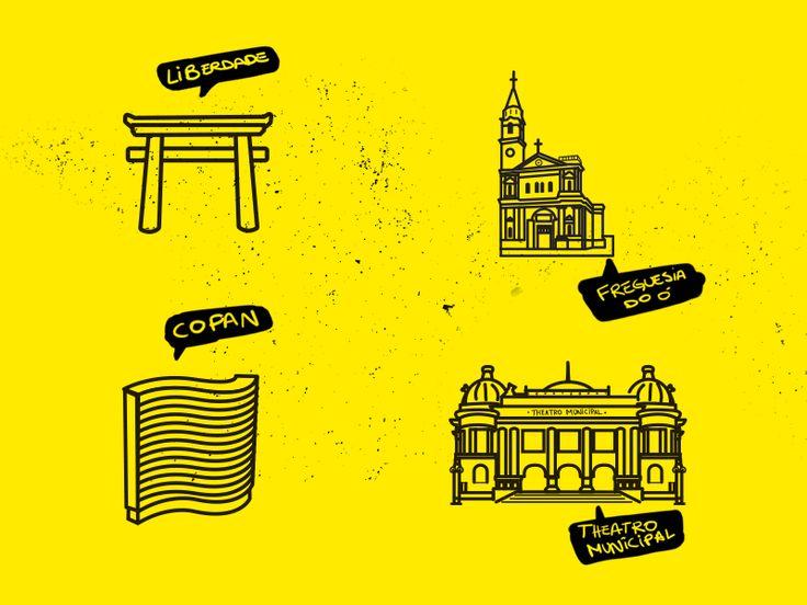 Black/Yellow Map Icons