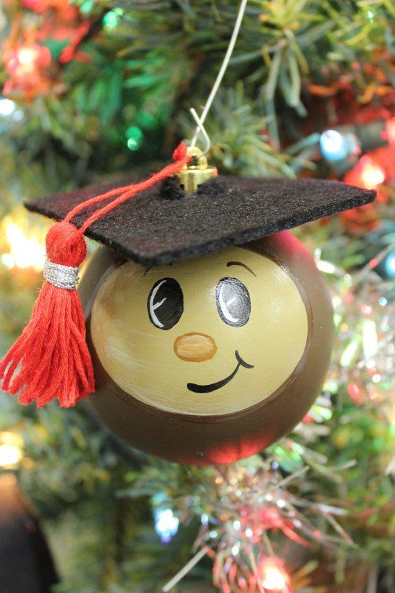 Buckeye Graduate Ornament  Ohio State Ornament  by True2YourART