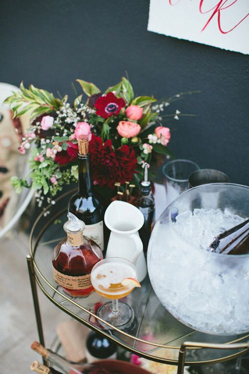 vase for an ice chest for entertaining.