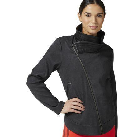 Reebok Suede Jacket Women's Combat Apparel in Black