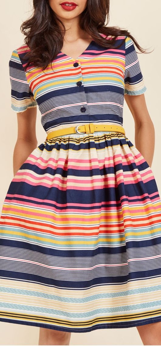 this is a sweet dress if the hemline was a little longer. love the sleeves. more colorful than my usual taste, but I like it.