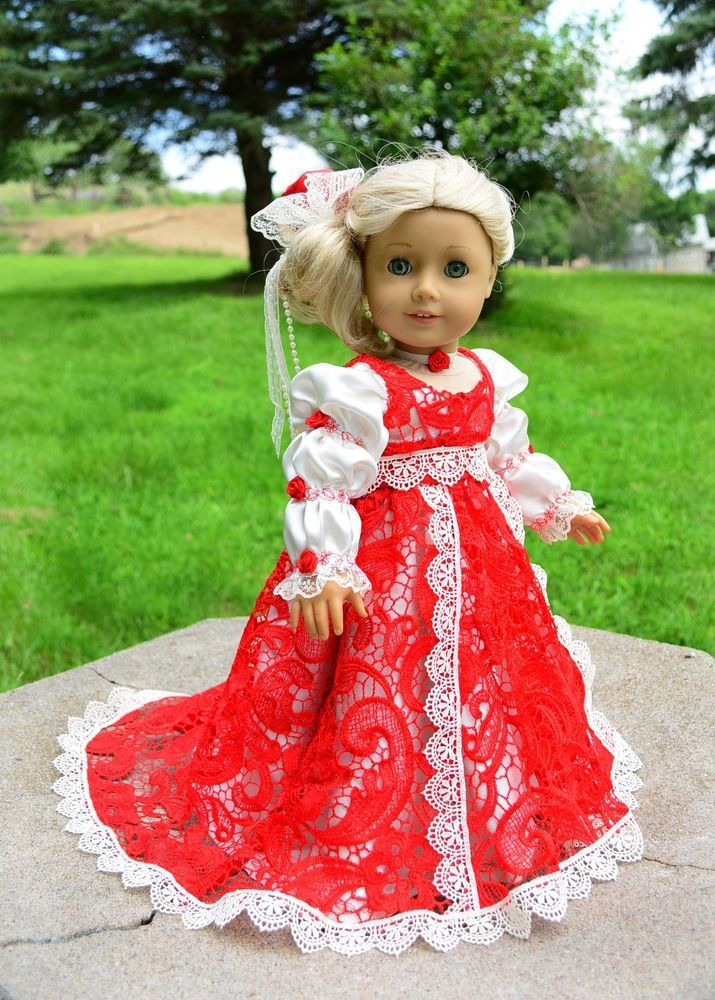 """""""At the Empire Ball"""" Regency Dress,Clothes for 18""""American Girl Caroline -Lumi  -- SOLD"""