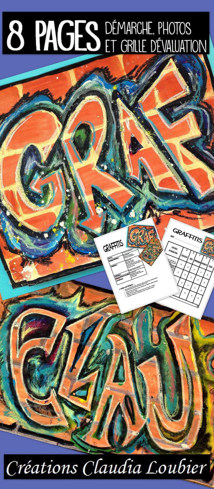 Activité d'arts plastiques pour le 3e cycle. (Peut aussi très bien se faire au secondaire) Créer un graffitis à l'aide de plusieurs médiums et techniques. Démarche sur 2 pages en PDF, exemple de police de caractère à utiliser et l'image de mon graffitis sur 8,5 x 11. Bonne création ! Grille d'évaluation incluse.