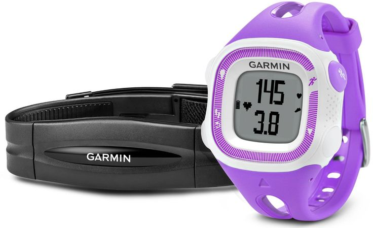 Garmin Forerunner 15 GPS Running Watch and Activity Tracker with Heart Rate Monitor, Small - Violet/White: Amazon.co.uk: Electronics