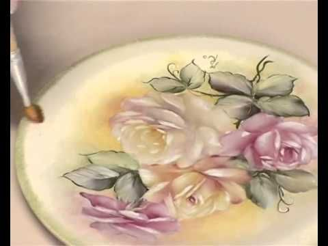 decoupage pittorico -Decorar ceramica - YouTube