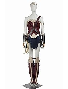 from Light in the Box - The New Wonder Woman - Cosplay+Princess+Diana+Wonder+Woman+Costumes+Halloween++Party+Costume+Super+Heroes+Cosplay+Movie+Cosplay+Black+Solid+Top+Skirt+More+Accessories+Strap+–+USD+$+442.99 on Sale for $219.00