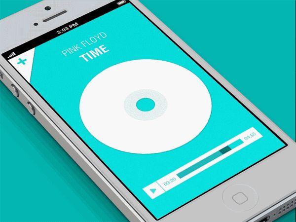 Music App by eyal zuri, via Behance