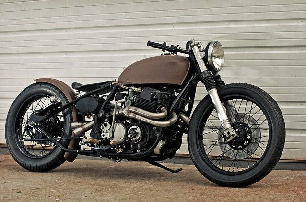 1975 Honda CB750 customized by Garage Company Customs Cafe Racer conversion - via Bike EXIF