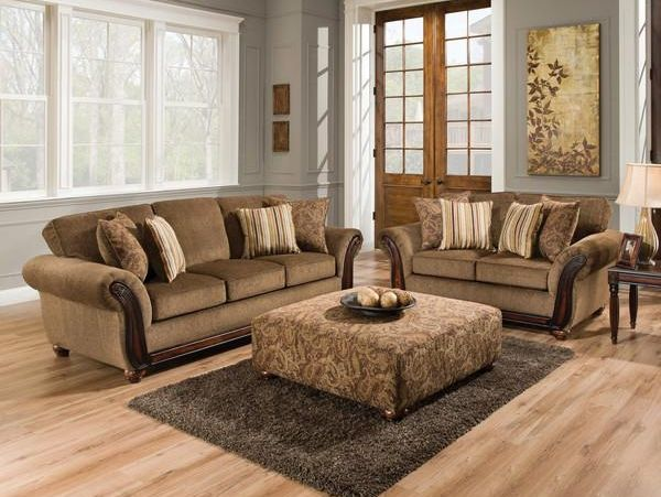 56531662 By American Furniture Manufacturing In Manhattan, KS   Cornell  Chestnut Sofa