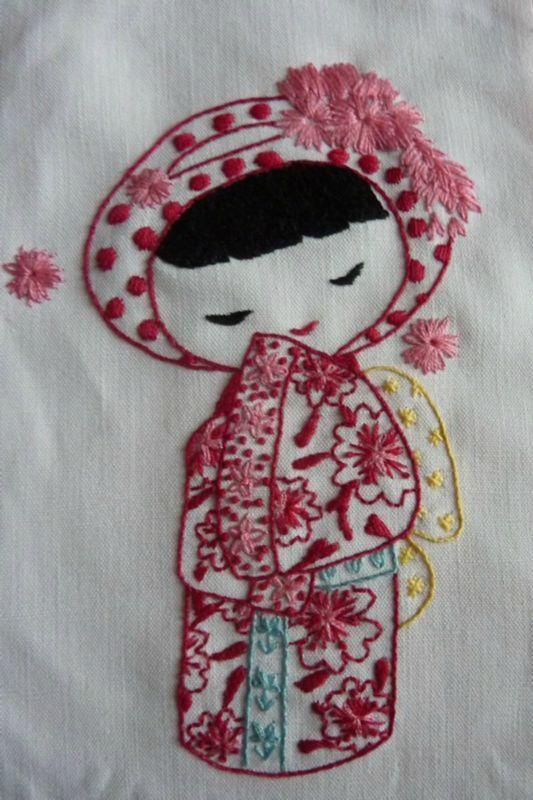 kokeshi embroidery