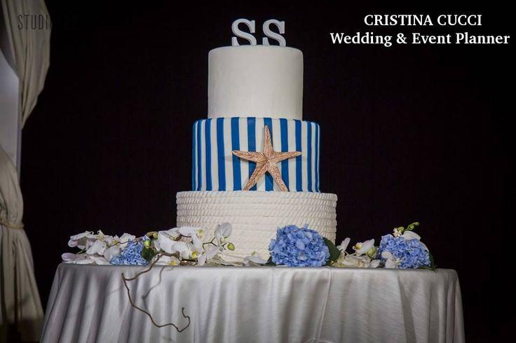 Wedding cake a tema mare dal bellissimo matrimonio di S&S :)
