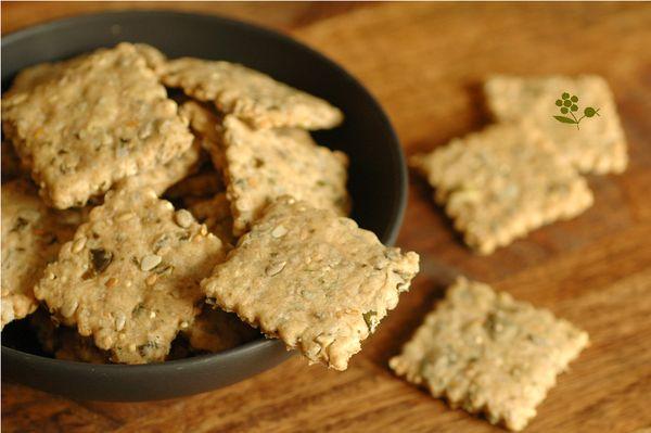 Crackers multi graines à l'huile dolive