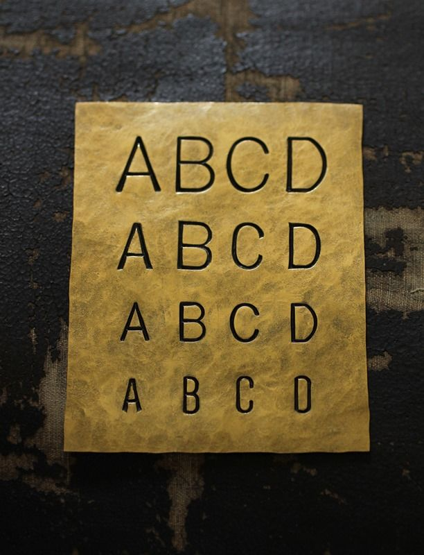 Brass Plate - Stamp Sample