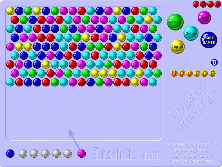 Bubble Shooter. Can't stop playing this at the mo. Very