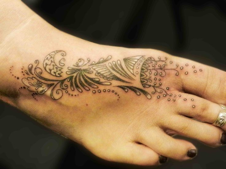 Foot tattoo's are very popular; one of the more uncomfortable places to be tattooed but well worth it.