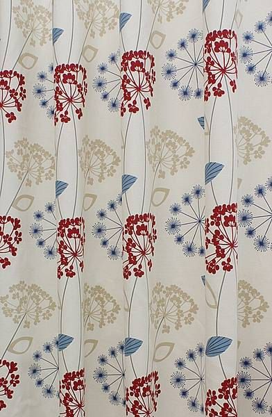 Custom Curtains 45   52 wide 84 drop Large seed heads pale cream crimson red  navy. 18 best blinds   curtains images on Pinterest