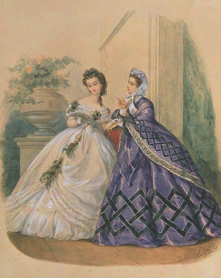 La mode illustr e 1863 exquisite history dress for Exquisit mode