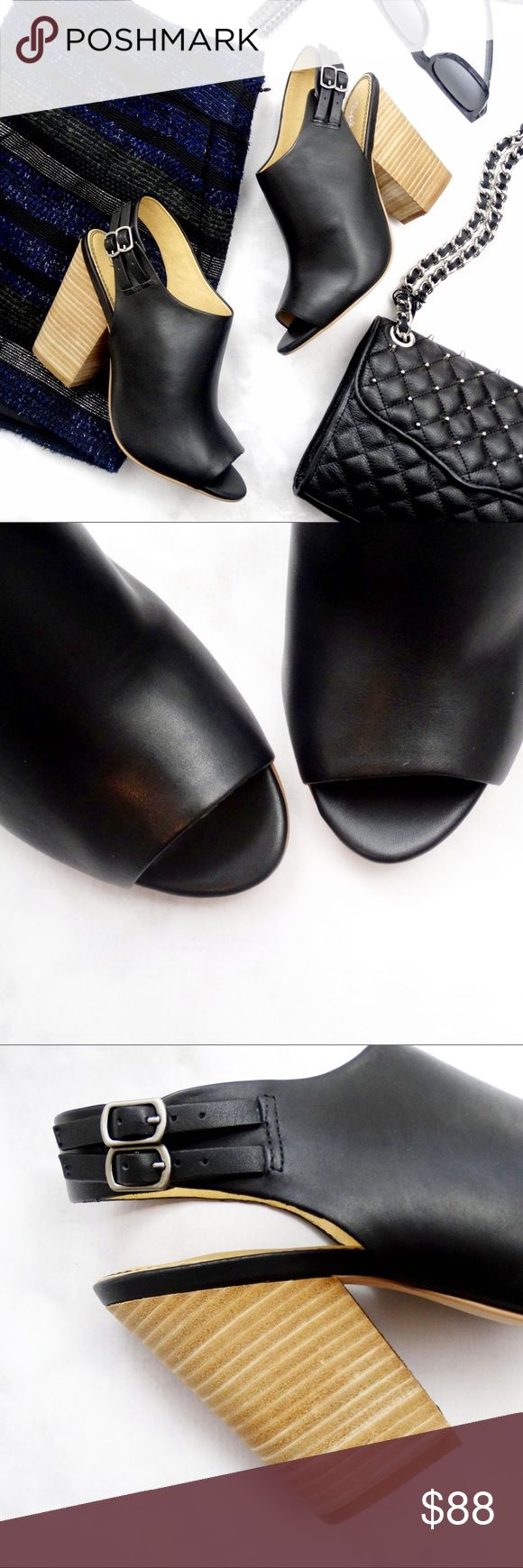 "Black Open Toe Slingback Block Heel Sandals Details: * Size 8 * Leather * Slingback * 4.25"" heel * New in box  04011707 Splendid Shoes Sandals"