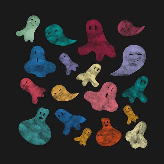 Check out this awesome 'Happy+ghosts' design on @TeePublic!