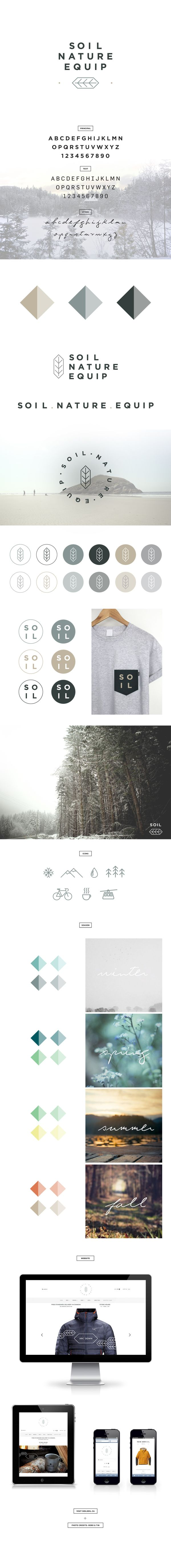 SOIL NATURE EQUIP by Eliane Cadieux, | Look at the rest of the images, great color scheme, typography, all the elements