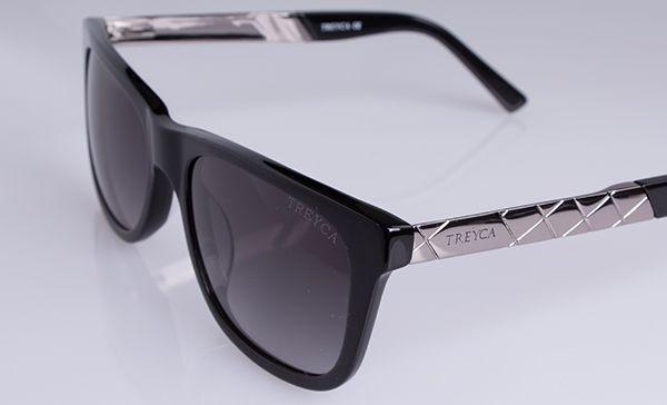Treyca Wayfarer Sunglasses in Polished Grey. #Treyca #Sunglasses