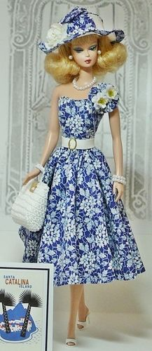 Barbie in Blue and White ...