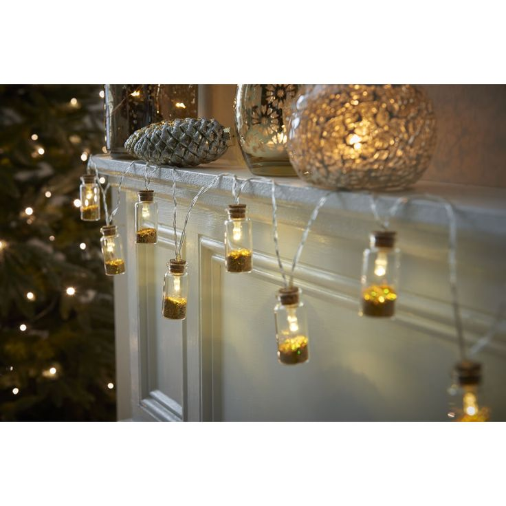 Wilko rustic glow battery operated led glitter filled jar string lights at wilko com