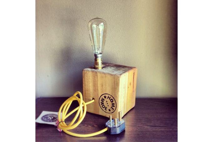 Tree Stump Block Lamp by Beards & Banjos