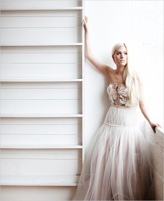 bustier wedding dress by Tara LaTour Lindemeier