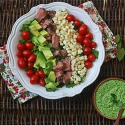 steak salad by thewickednoodle
