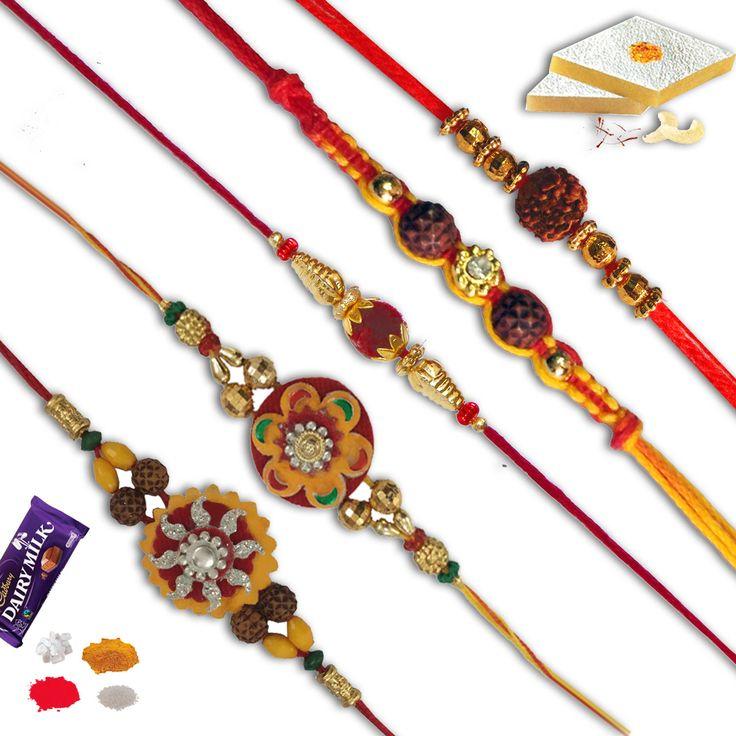 Set of five rakhi.combo of five different rakhis. #Rakhi #Gifts#Rakhiset #SendRakhi#OnlineRakhi#freeshipping#rakhitoindia#beadrakhi#velvetrakhi#zardoshirakhi#rudrakshrakhi