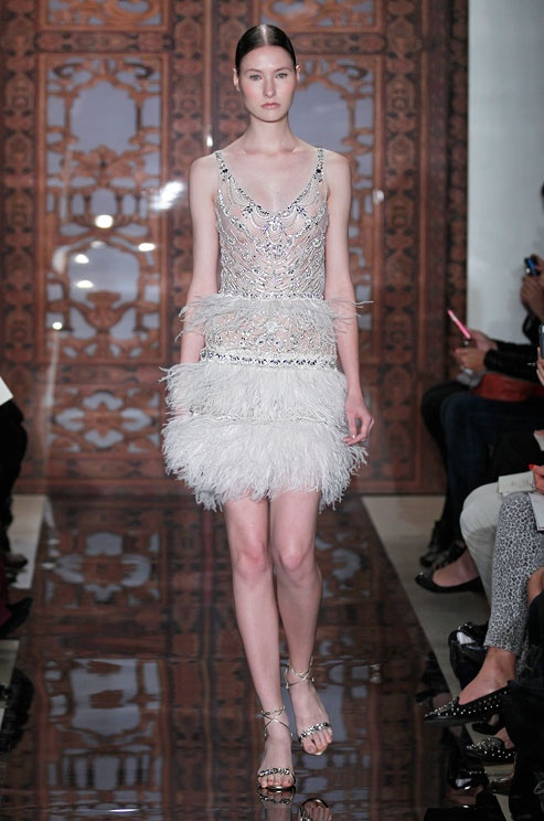 This illusion wedding dress from Reem Acra is entirely see-through.