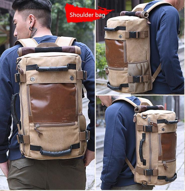 Get the Canvas Laptop Backpack Travel Hiking Camping Rucksack Bag for men now. Awesome men's backpack for outdoor, working, traveling, hiking, camping, school and everyday using.