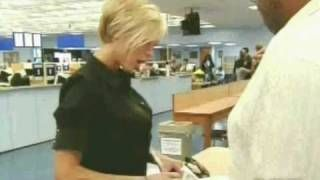 Victoria Beckham - Hilarious video - Drivers license test