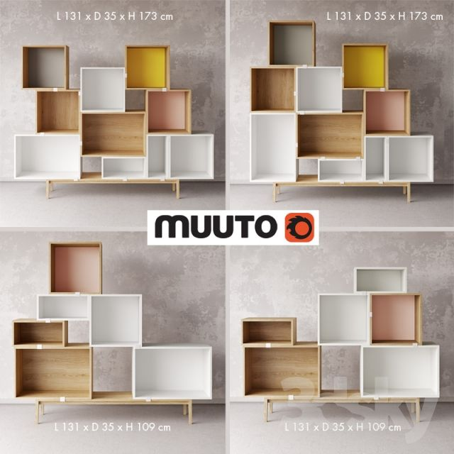 Adjustable shelves, chests of drawers Muuto - Stacked