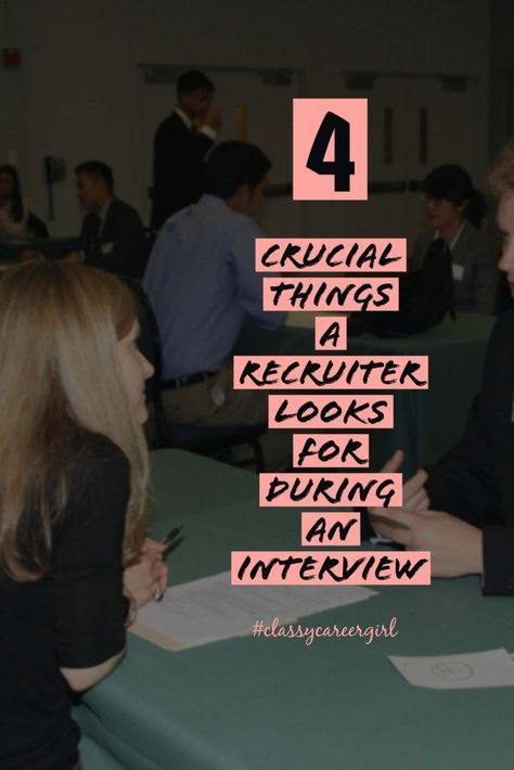 If you have ever wanted to know what a recruiter is thinking, read this!! http://www.classycareergirl.com/2016/06/recruiter-interview-tips-podcast/