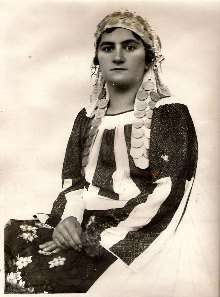Romanian national attire from Urseni, Banat region Romania