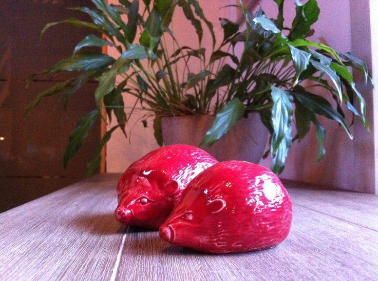 Egeltjes - rode glazuur