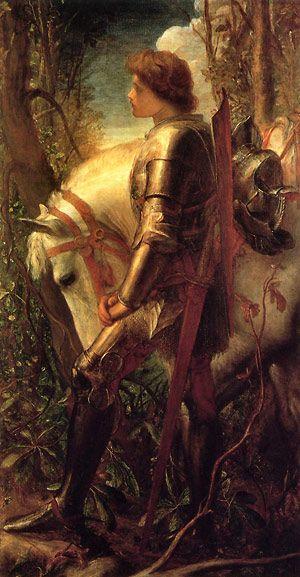 КОРОЛЬ АРТУР / Джордж Уотс (George Frederick Watts) «Сэр Галахад» (Sir Galahad).