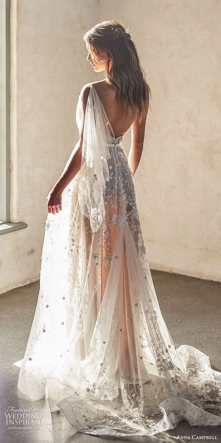 anna campbell 2020 bridal illusion one shoulder sweetheart ruched bodice fully embellished lace a line ball gown wedding dress (2) romantic boho blush color chapel train bv -- Anna Campbell 2020 Wedding Dresses | Wedding Inspirasi #wedding #weddings #bridal #weddingdress #weddingdresses #bride #fashion  ~