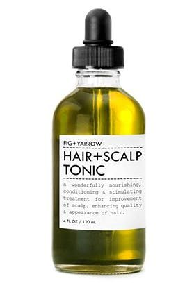 6 of the Best Products for Thinning Hair:Hair + Scalp Tonic - Fig + Yarrow ($34)  @PureWow