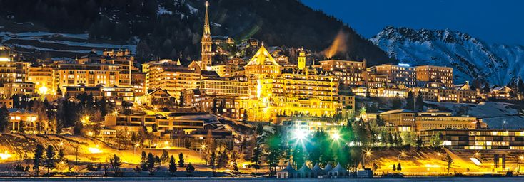St. Moritz by night Winter Engadin St. Moritz, Grisons, Switzerland