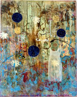 Mandy Emerson...her mixed media art is so beautiful. Check out her FB page.